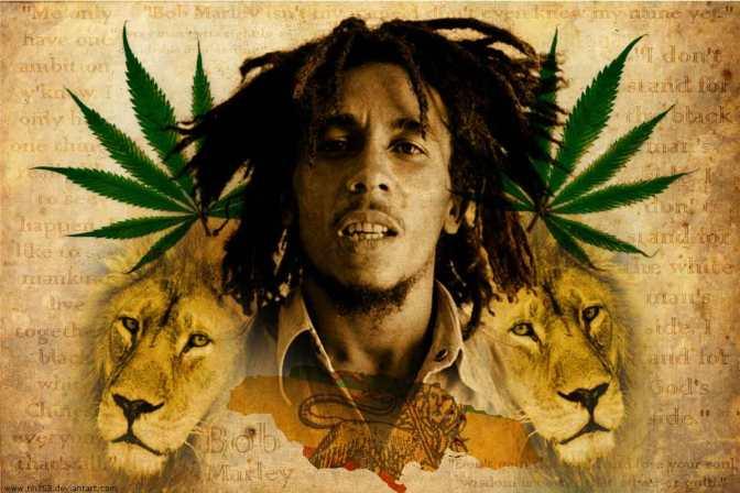 Kanapių kultūros draugijos nariai sveikina Bob Marley, su gimimo diena.